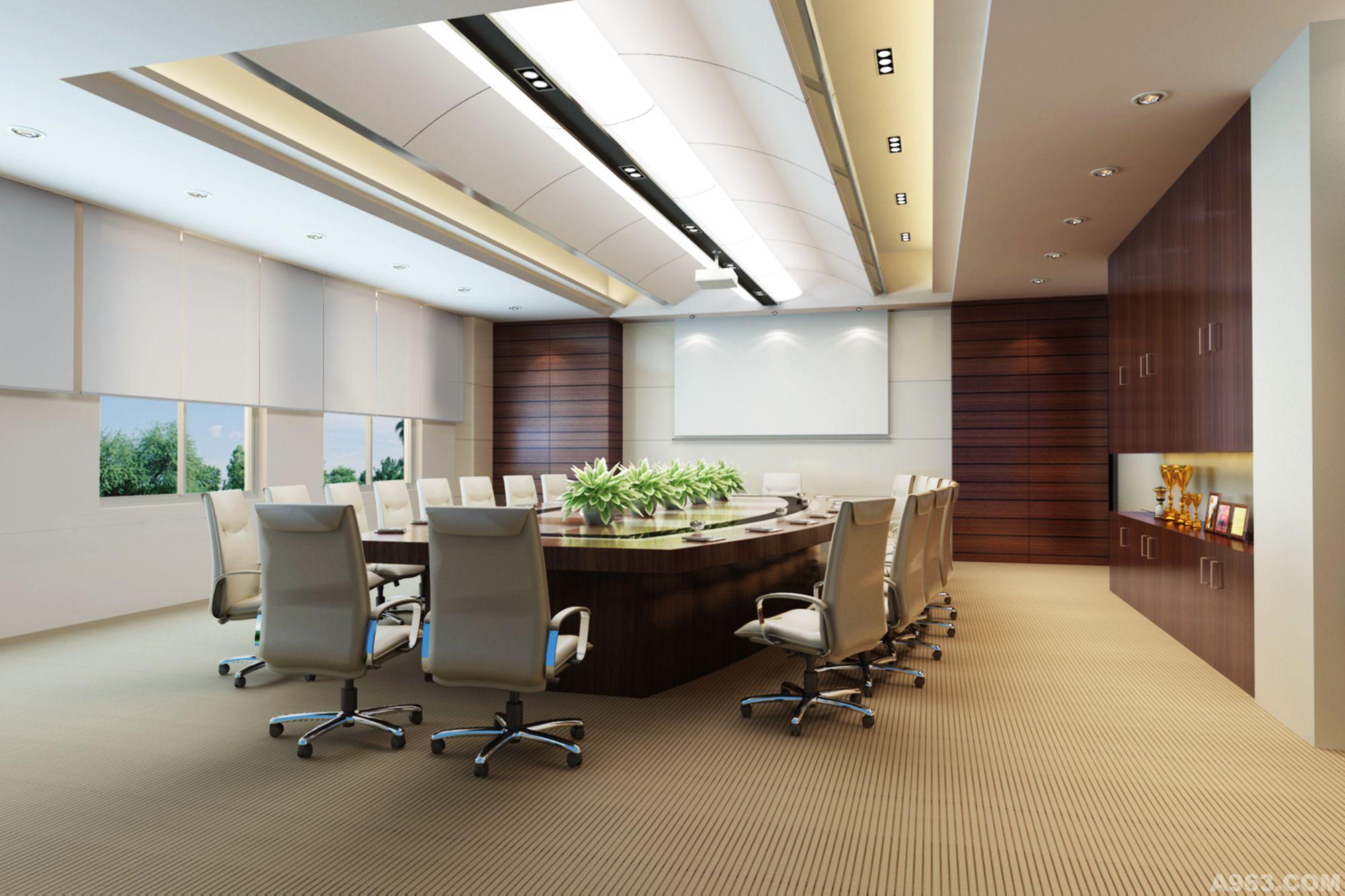 广邑门业办公楼室内设计方案