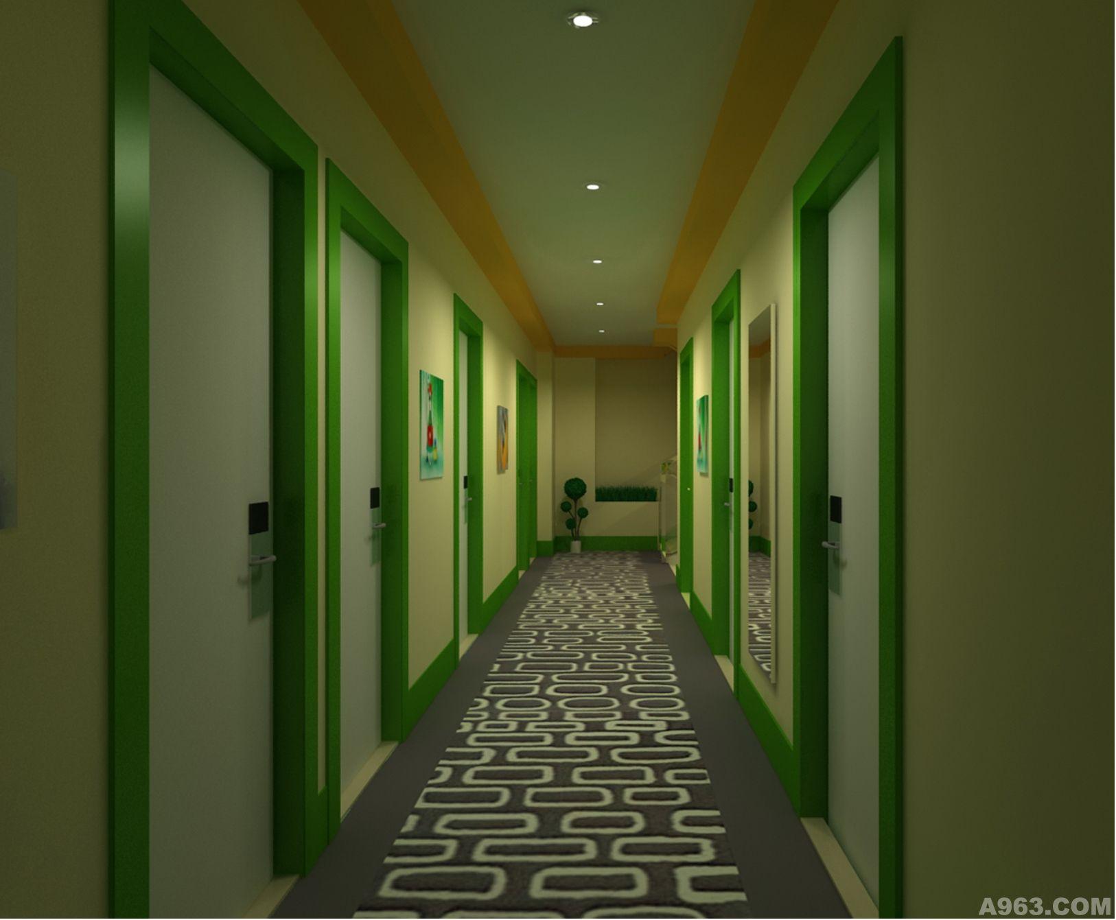 小型宾馆走廊效果图 进门小走廊吊顶效果图 走廊吊顶效果图及玄关