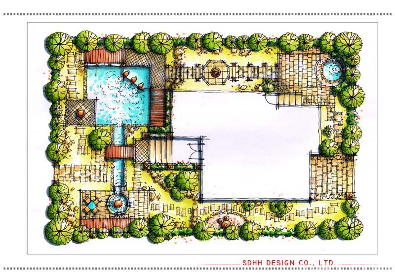 南宁别墅花园设计 半岛别墅花园 - 南宁景观设计作品