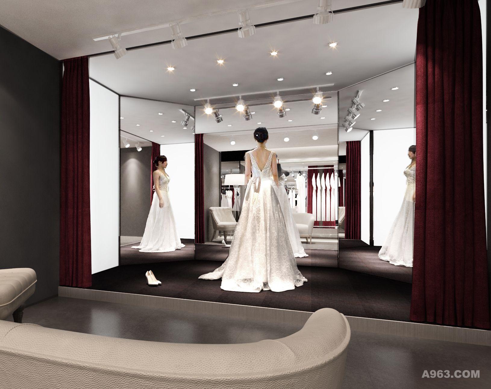 薇佳婚纱礼服馆 - 商业空间 - 林彬 设计作品案例