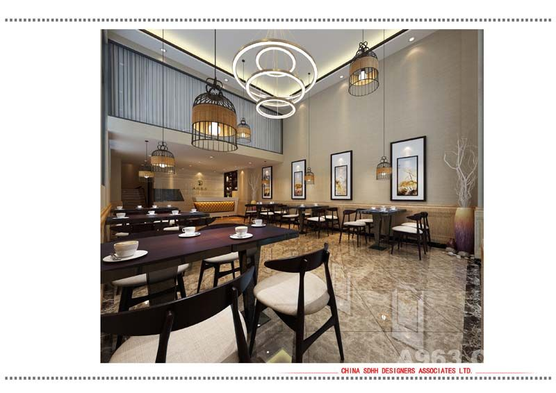 南宁中餐厅装修设计 万达海鲜中餐厅